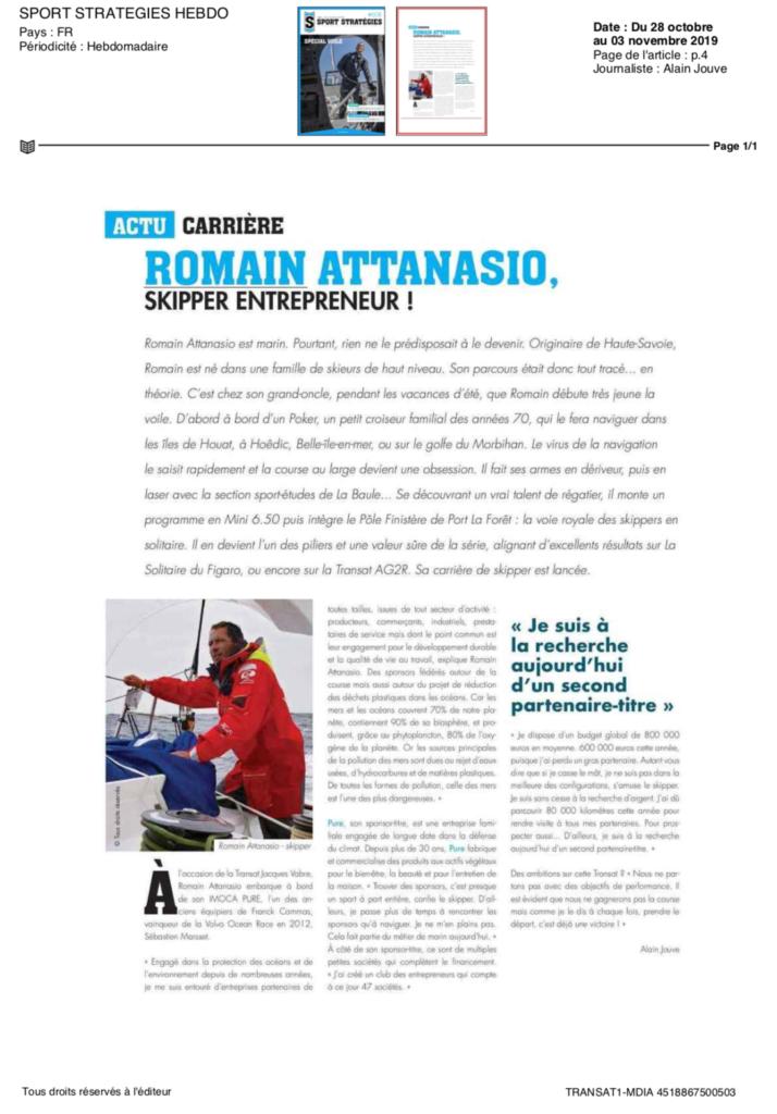 Romain Attanasio Skipper Entrepreneur