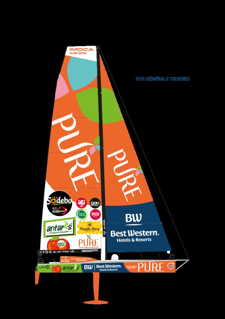 Vue générale tribord IMOCA - PURE - BEST WESTERN